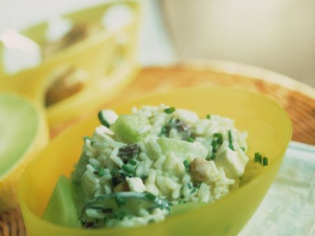 Melon and Cucumber Rice Salad
