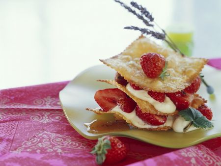 Millefeuilles with Strawberries