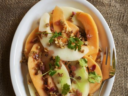 Mixed Melon Salad with Walnut Dressing