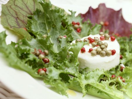 Mixed Salad with Goat Cheese and Pepper Vinaigrette