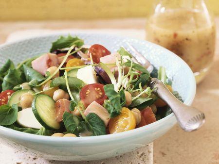 Mixed Salad with Honey Mustard Dressing