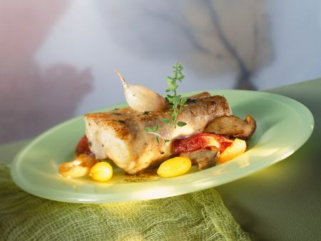 Monkfish with Oven Dried Tomatoes