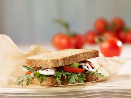 Mozzarella, Tomato and Arugula Sandwiches recipe   Eat ...
