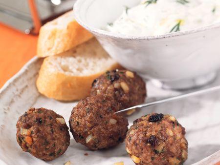Oriental Meatballs Fondue