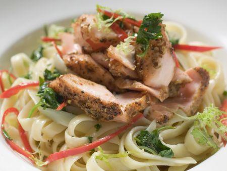 Peppery Fish Pasta