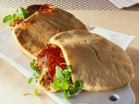 Pita Bread with Pork and Peppers