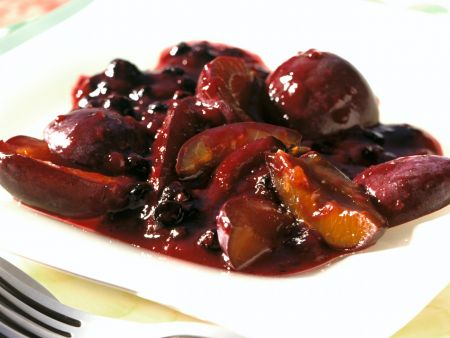 Plum and Elderberry Compote