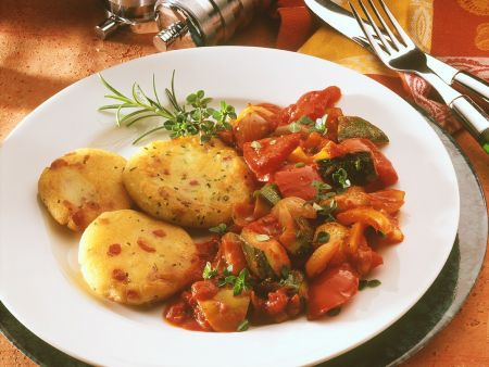 Potato Cakes with Ratatouille