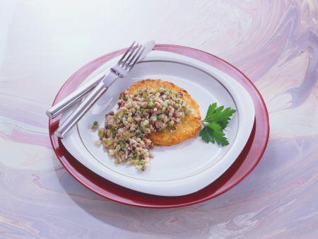 Potato Pancakes with Pickled Herring Tartar Sauce