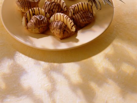 Profiteroles with Chocolate and Pineapple Filling