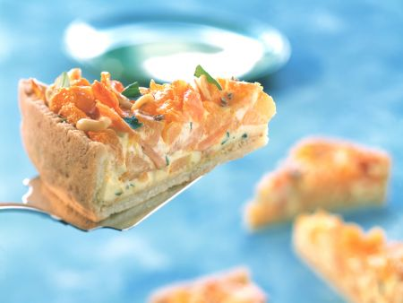 Pumpkin Carrot Quiche with Pine Nuts
