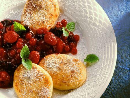 Quark Dumplings with Berry Sauce