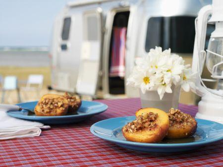 Raisin and Honey Filled Peaches