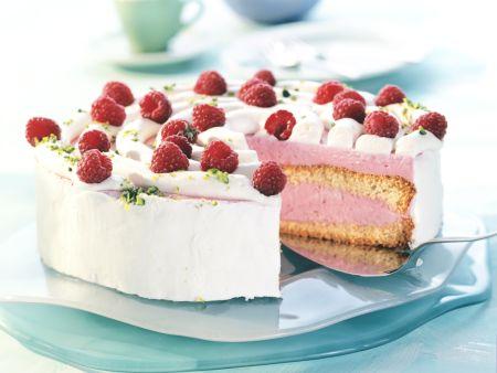 Raspberry Cream Cheese Torte