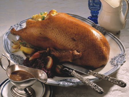 Roast Goose with Red Cabbage