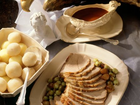 Roast Veal with Gooseberries