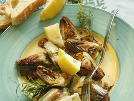Roasted Artichokes with Herbs