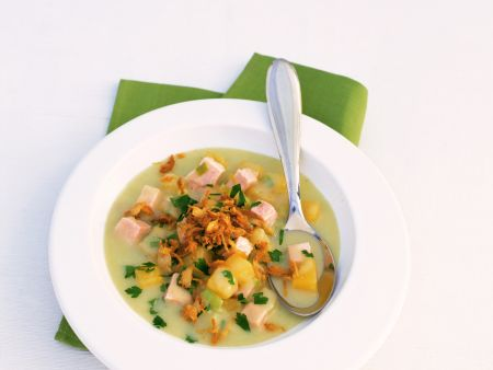Rutabaga Soup with Smoked Pork