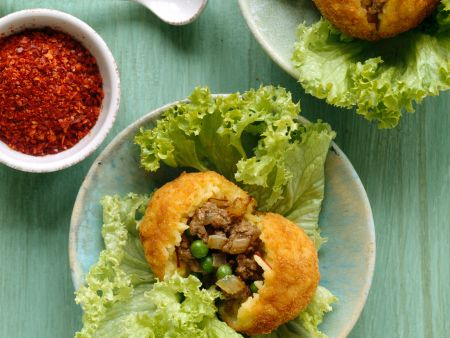 Saffron Arancini Stuffed with Meat and Peas
