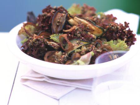 Salad with Eggplant and Zucchini