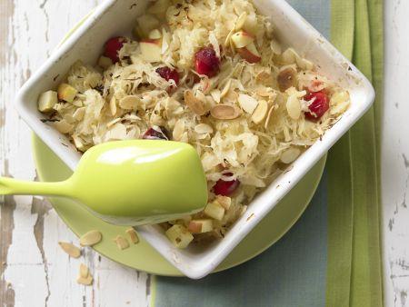 Sauerkraut and Apple Gratin