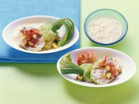 Seafood Stuffed Zucchini Flowers