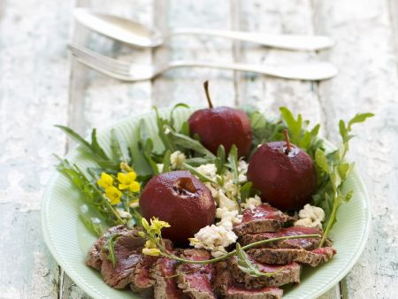 Sliced steak with poached fruit recipe eat smarter usa for Poached strawberries