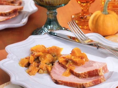Smoked Pork Tenderloin with Pumpkin Chutney