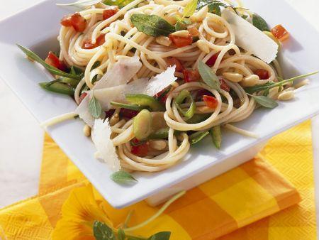 Spaghetti and Arugula Salad