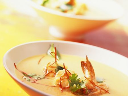 Spicy Coconut Curry Soup with Shrimp