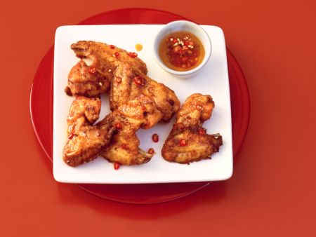 Spicy Honey Garlic Chicken Wings
