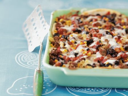 Spicy Beef Gratin with Sweetcorn