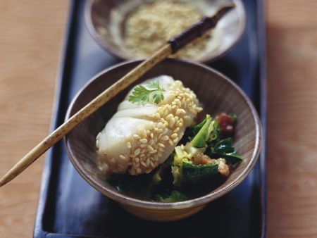 Steamed Perch on Savoy Cabbage