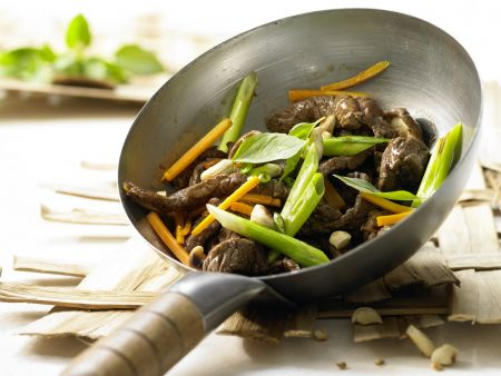 Stir-Fried Beef and Shiitake Mushrooms