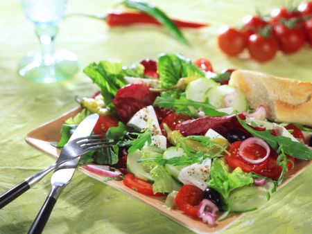 Summer Salad with Mozzarella