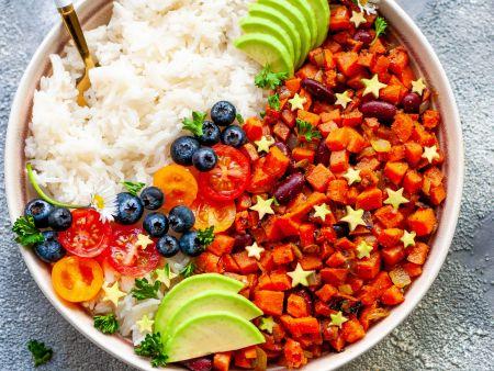 Sweet Potato Rice Bowl