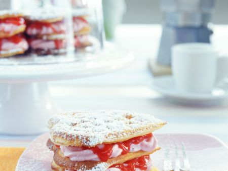 Sweet Strawberry Waffles