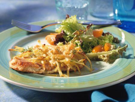 Turkey Cutlets with Potato Crust