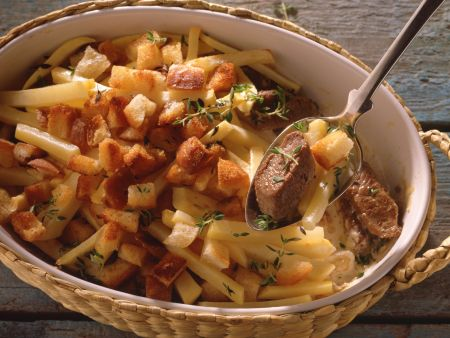 Turnips Gratin with Lamb
