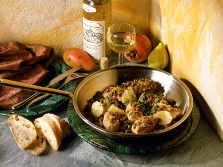 Veal Medallions with Lemon Caper Sauce