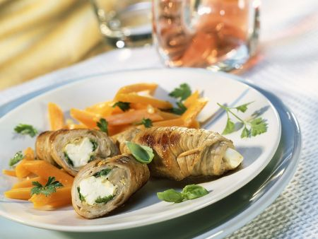 Veal Rolls with Cheese Filling