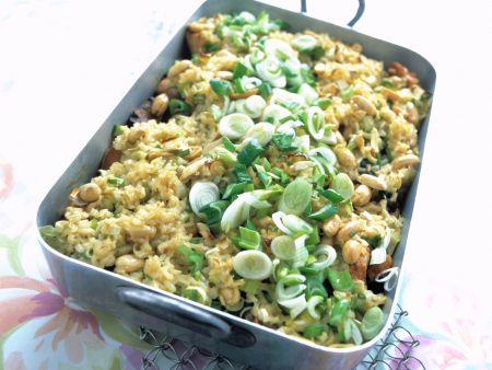 Vegetable Casserole with Turkey and Rice