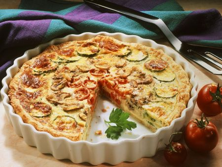 Vegetable Quiche with Mushrooms