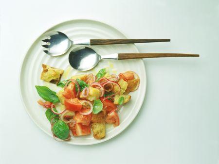 Warm Tomato and Bread Salad