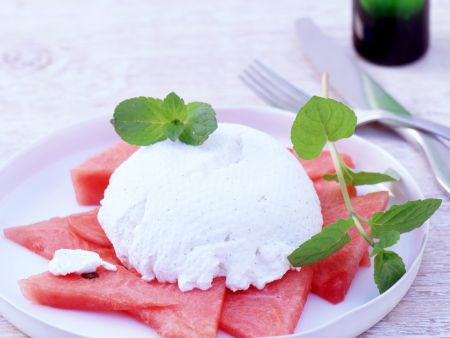 Watermelon with Ricotta Cream