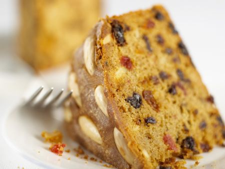 Whole Almond Topped Fruit Cake