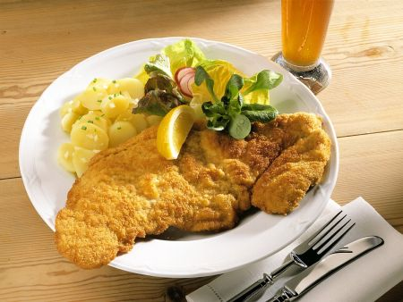 Wiener Schnitzels with Potato Salad