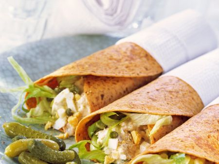 Wraps with Tuna-egg Salad Filling