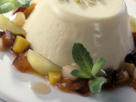 Yogurt Mousse with Fruit Sauce recipe   Eat Smarter USA