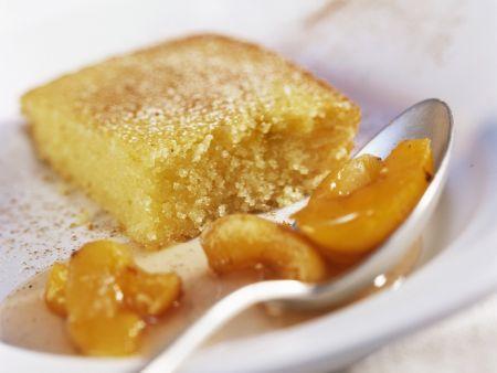Yogurt Semolina Cake with Apricot Sauce recipe | Eat Smarter USA
